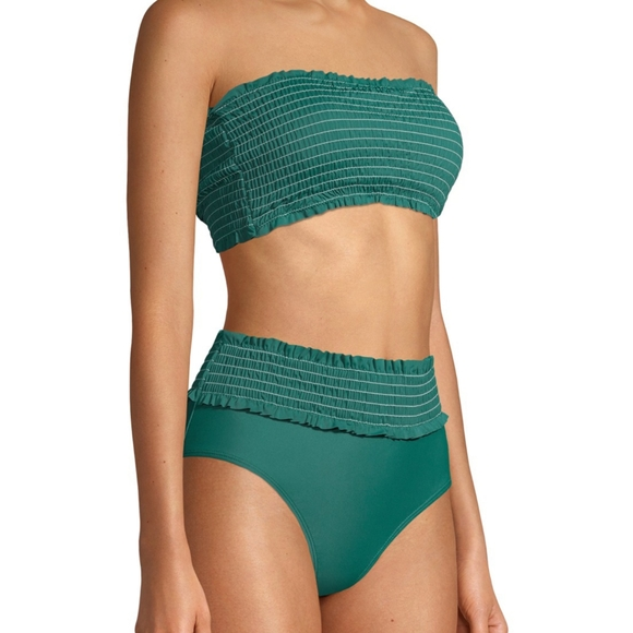 XOXO Other - XOXO Green Bandeau Top High Waisted Swimsuit
